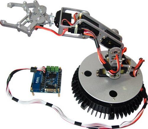 机械手臂图片和视频32路伺服电机控制