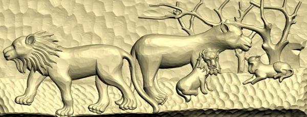 木雕《狮子》三维扫描结果