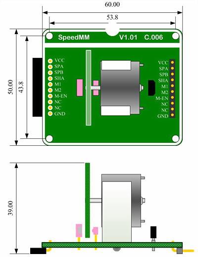电机转速测量模组测量